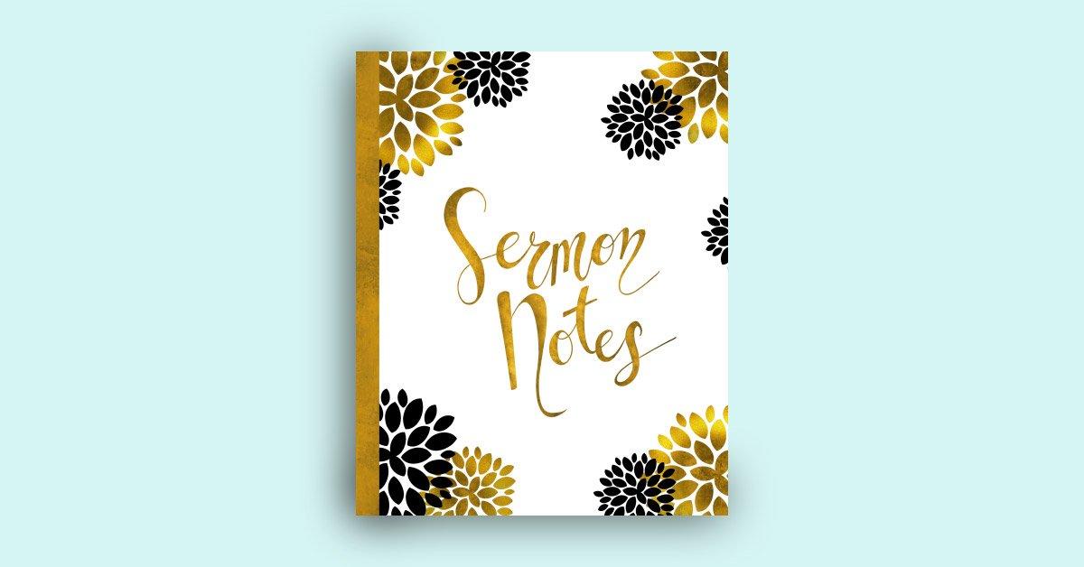 book for sermon notes notebook