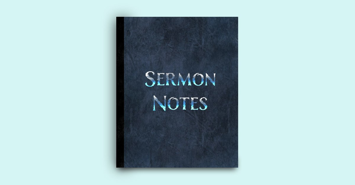 Sermon notes notebook for men image