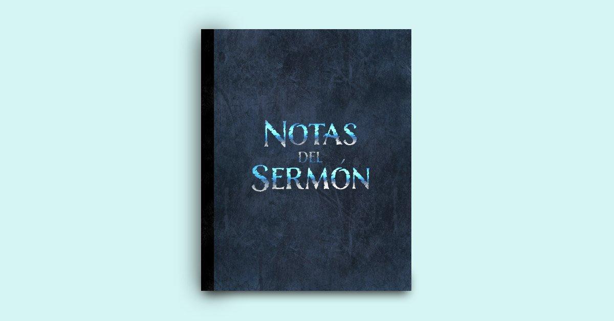 libreta de notas de sermon para hombres