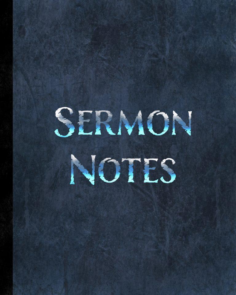 Sermon notes notebook for men